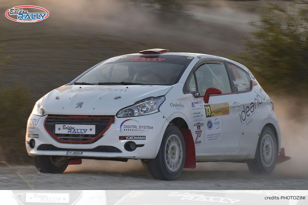 Baruffa al via del San Marino Rally con la Peugeot 208 R2