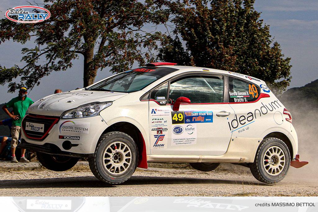 Primi punti nell'under 25 per Baruffa al San Marino Rally